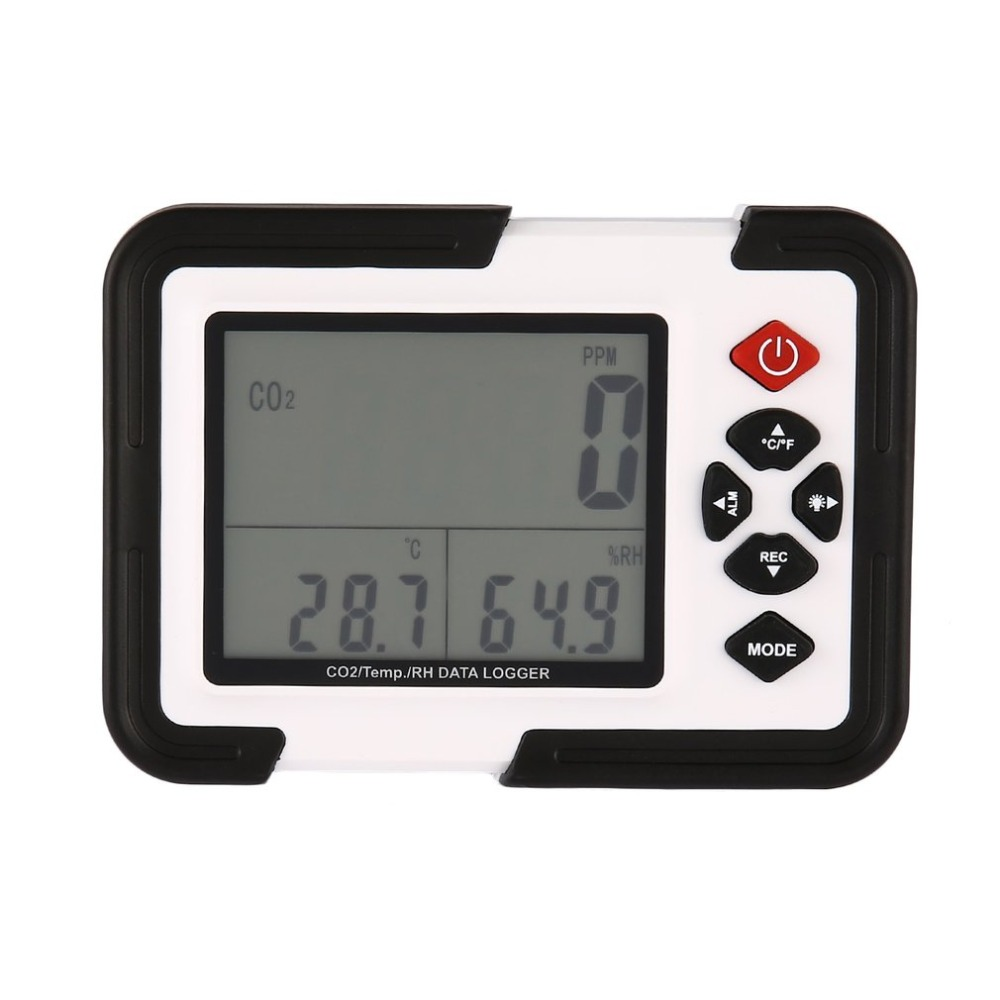 1Set USB Carbon Dioxide CO2 Data Meter Air Temperature LCD Logger Humidity Tester With Box