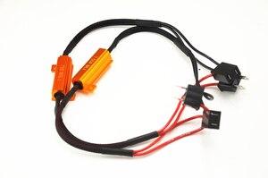 Gremlins 2 قطع 50 واط H1 H3 H7 سيارة تحميل المقاوم خطأ Canceller LED فك في Canbus شحن الأسلاك Canceller فك ضوء 9005 9006
