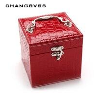 Mode-sieraden Box Kist Voor Sieraden Travel Case Bruiloft Verjaardagscadeau Ring Oorbellen Ketting Sieraden Opbergdoos Container
