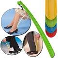Пластиковый рожок для обуви подъемник для инвалидов подвижная помощь палка для снятия рога для обуви гибкие инструменты для снятия рога дл...
