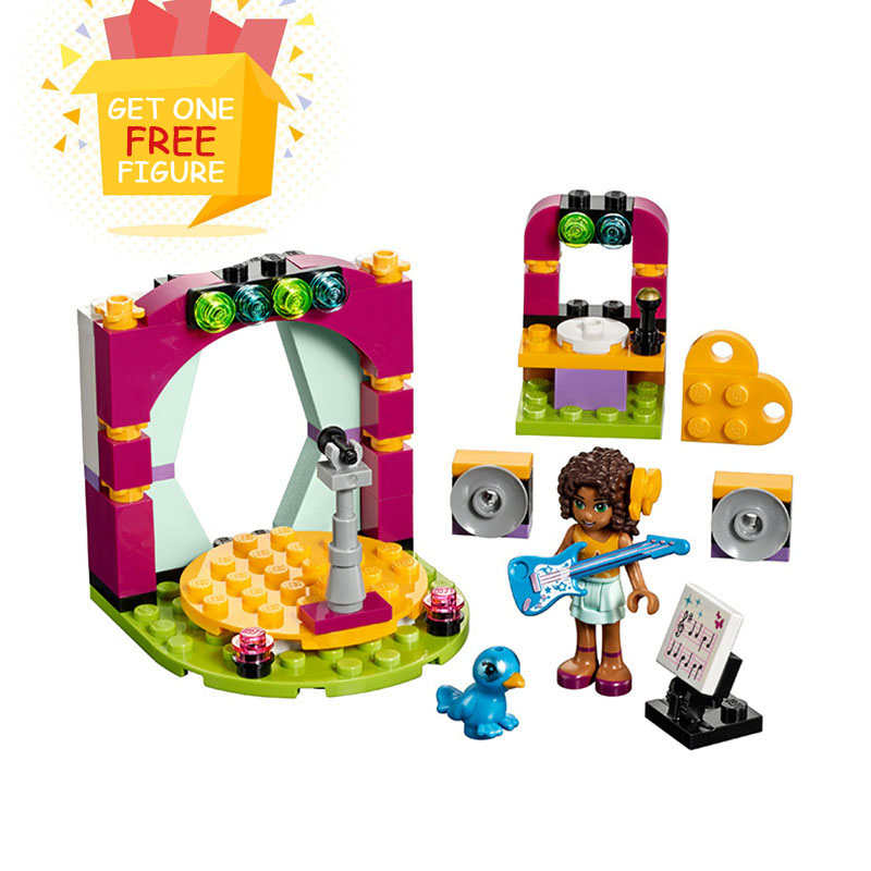 Bela Pogo Compatible Legoe Friends 10605 Girls Andrea's Musical Models Action Figures Building Blocks Bricks toys for children 2016 bela 10497 10496 10493 girls friends city park cafe building blocks set figures bricks toys 41119