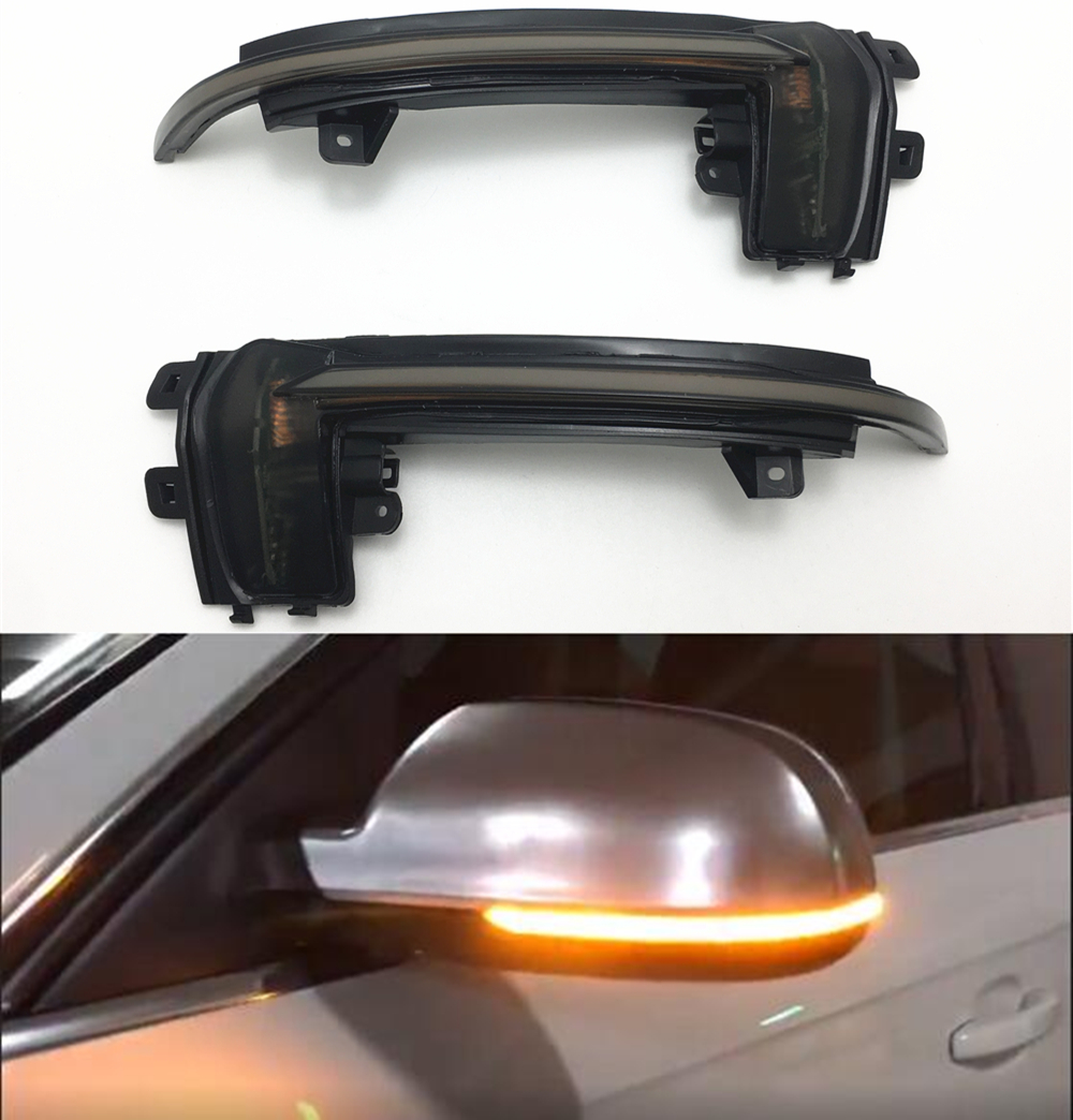 OZ-LAMPE Side Marker Turn Signal Lights LED Direction Indicator Lights Clear for Aud-i A3 S3 8P A4 S4 RS4 B6 B7 B8 A6 S6 RS6 C5 C7 A8 D3 TT 8J Roadster 1 pair