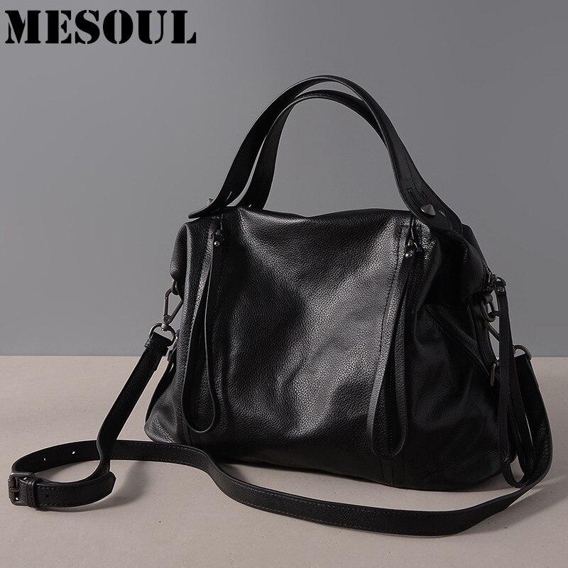 Casual Tote 100% Cuir Véritable Femmes Sacs À Main Haute Qualité - Des sacs - Photo 2