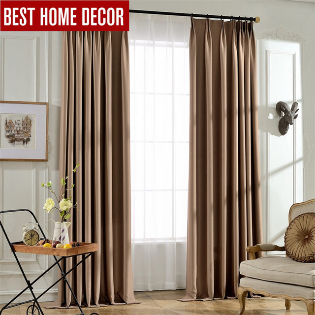 BHD Tailor Made Solid Modern Blackout Curtains For Window Blinds 95 Shading