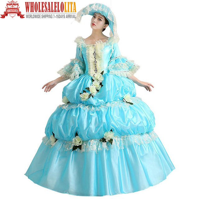 Global Freeshipping Rococo Princess Prom Gown 18th Century Party Dress Belle Gown  sc 1 st  AliExpress.com : belle gown costume  - Germanpascual.Com