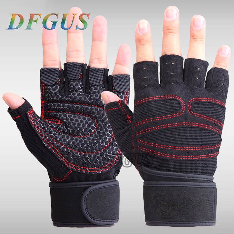 Women Work Out Gloves Weight Lifting Gym Sport Exercise: DFGUS Outdoor Men Gym Gloves Body Building Sport Fitness