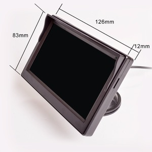 Image 5 - 5 Inch Car Monitor TFT LCD HD Digital 16:9 800*480 Screen 2 Way Video Input Colorful For Reverse Rear View Camera DVD VCD