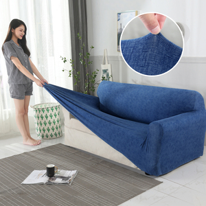 Image 2 - Sofa Case Sofa Cover For Living Room Slipcovers Elastic Stretch Universal Sectional Cases for Furniture Couch Cover 1/2/3/4 Seat