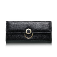 Woman Wallet Long Two Fold Coin Purse Wallet Genuine Leather Purse Women Famous Brands Purse For