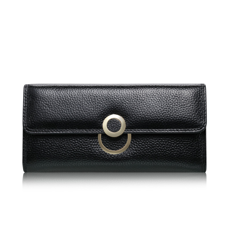 Woman Wallet Long Two-Fold Coin Purse Wallet Genuine Leather Purse Women Famous Brands Purse For Phone Dollar Prise Hjgh Quality