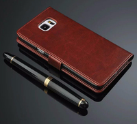 Genuine Leather Case For Samsung Galaxy NOTE 5 NOTE5 N9200 Leather Case Flip Cover For Galaxy