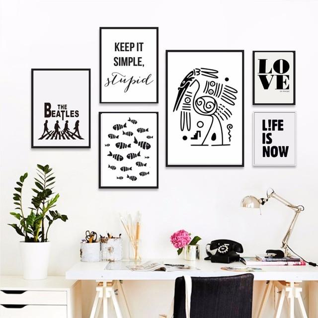 Amor Casa Frase Inglês Provérbios Vida Inspiradora Cartaz Preto E