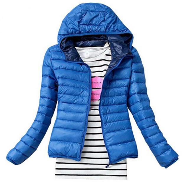 Novo 2017 moda feminina inverno parkas para baixo mulheres jaqueta casaco de inverno clothing cor preto vermelho azul do inverno do sobretudo jaqueta parka