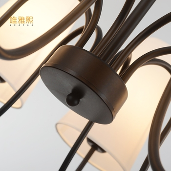 Luci A Led Per La Biancheria Per La Casa Paralume In Tessuto Lampadario In Ferro Moderno Lampadari Moderni Concise Stile Apparecchio Di Illuminazione Interna