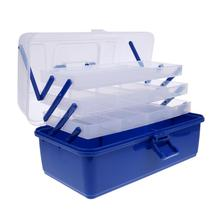 3/4 layers Waterproof Fishing Tackle Box Tray Fishing Hooks Lures Baits Storage Case Ladder Shaped Container