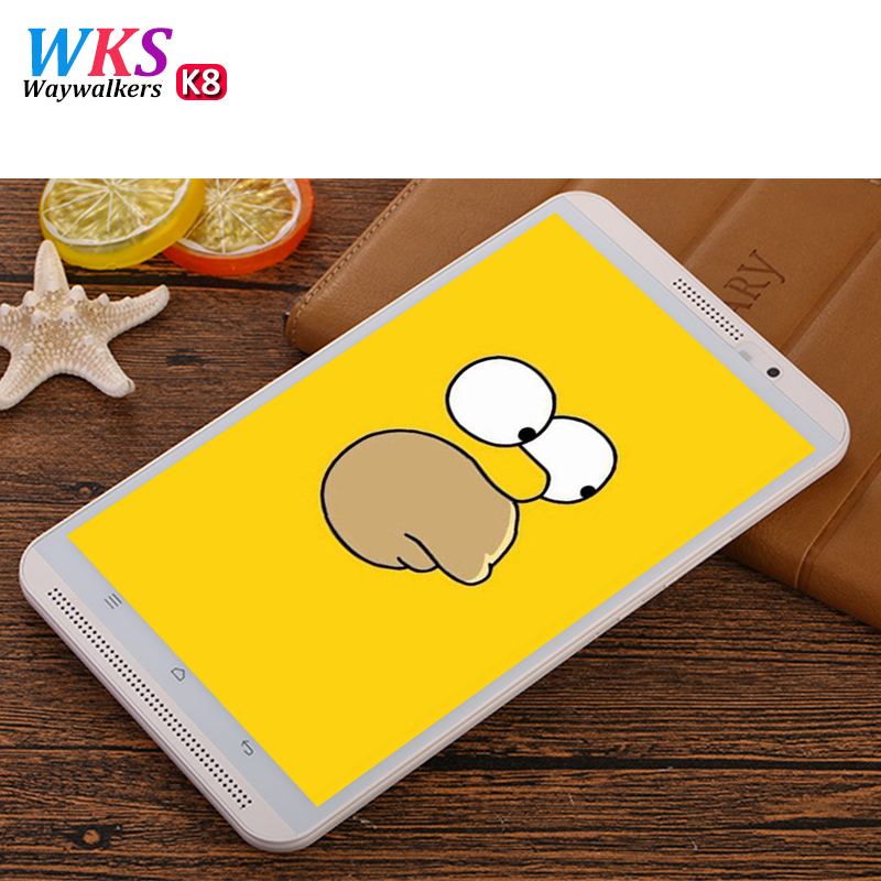 D'origine WAYWALKERS Tablet 2 LTE/WiFi 4 gb RAM 64g ROM 8 pouce Tablet PC appel Téléphonique Octa core Android 6.0 GPS Dual SIM et Caméra