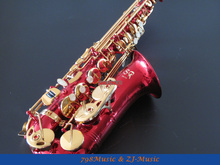 Eb Alto Saxophone Red Body and Lacquer Gold Key