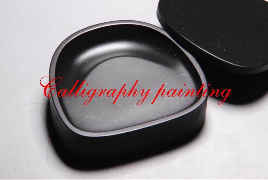 1pc She Ink Stone Venus Inkstone with cover Inkslab Calligraphy Painting Tool