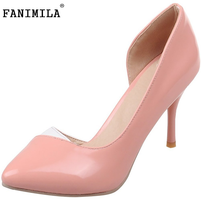 ФОТО Women Pointed Toe Thin Heel Pumps Woman Sexy Two Piece Shoes Female Brand Quality Party Heeled Footwear Shoes Size 35-46 B270