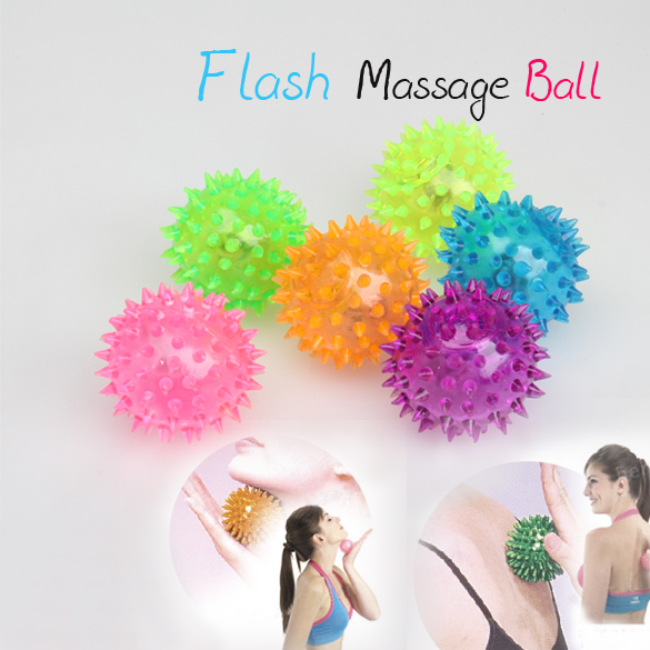 Flashing Light Up Spikey High Bouncing Balls Novelty Sensory Hedgehog Ball FJ88