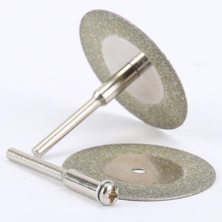 10 ШТ. 35 мм dremel аксессуары же нефрит стекла алмаз dremel отрезные диски подходят роторный инструмент dremel инструмент на сверла с две оправки