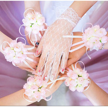 Artificial Flowers Wrist Flower Bridesmaid Sisters Hand Wedding Decoration Gifts for Guests Bridal Prom Supplies