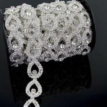 10Yards Rhinestone Crystal Trim Chain DIY Rhinestones Sew On Appliques