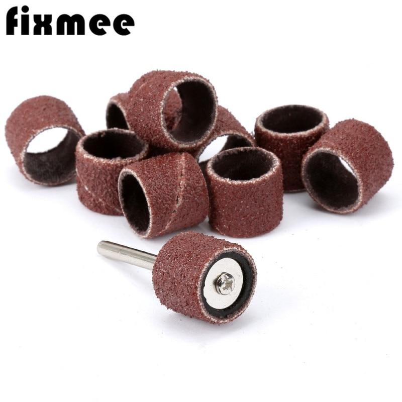 100PCS-Dremel-Accessories-1-4-Grit-80-Drum-Sanding-Kit-2X-Band-Mandrel-1-8-Shank