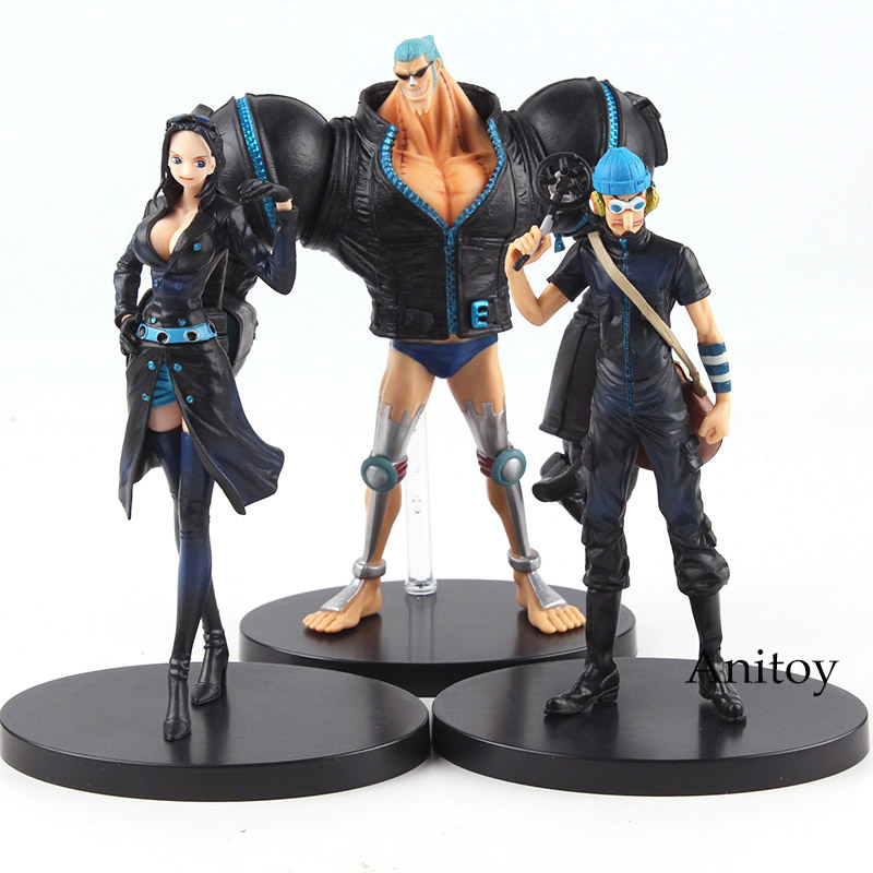 Anime One Piece Film Gold Robin Franky Usopp Figure PVC One Piece Figure Set Collectible Model Toys for Boys 3pcs/set