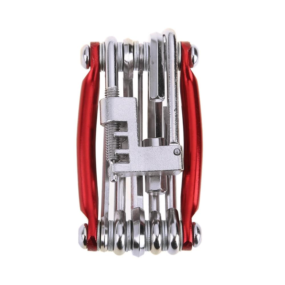 11 in 1 Hex Spoke Screwdriver Chain Cutter Bike Bicycle Repair Tools Kit