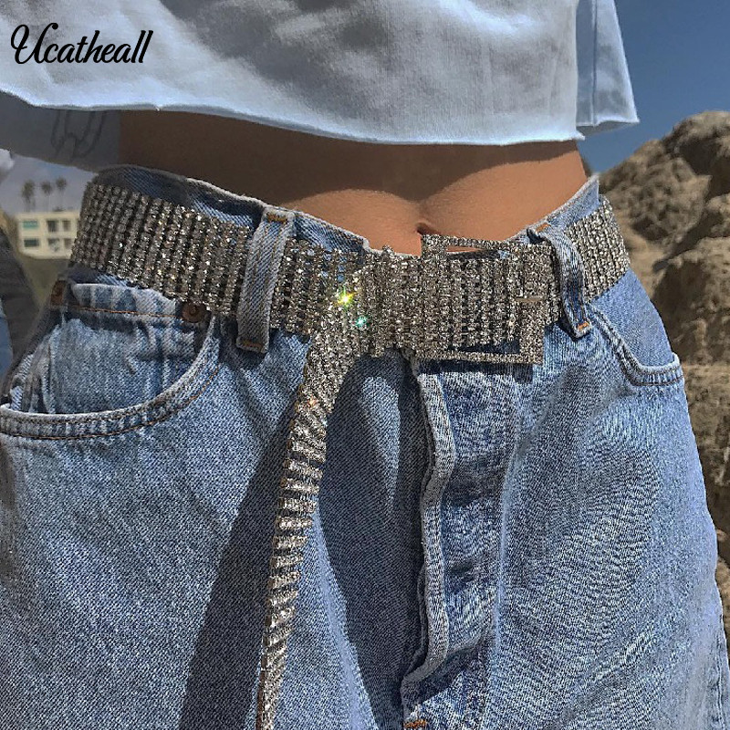 Rhinestones Crystals Street Style Belts Party Nightclub Wear  Rhinestones Crystals