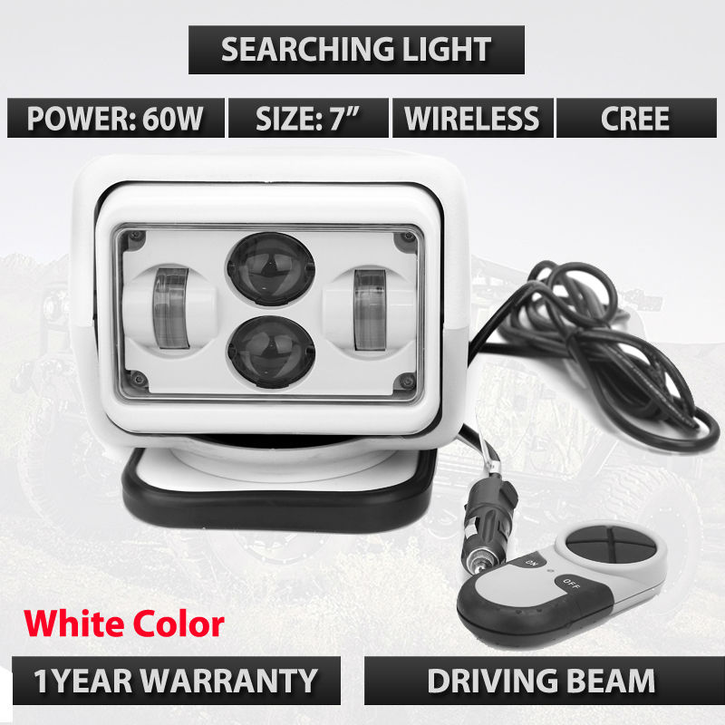 7inch 60W LED Auto Wireless Search Spot Light 12V 7