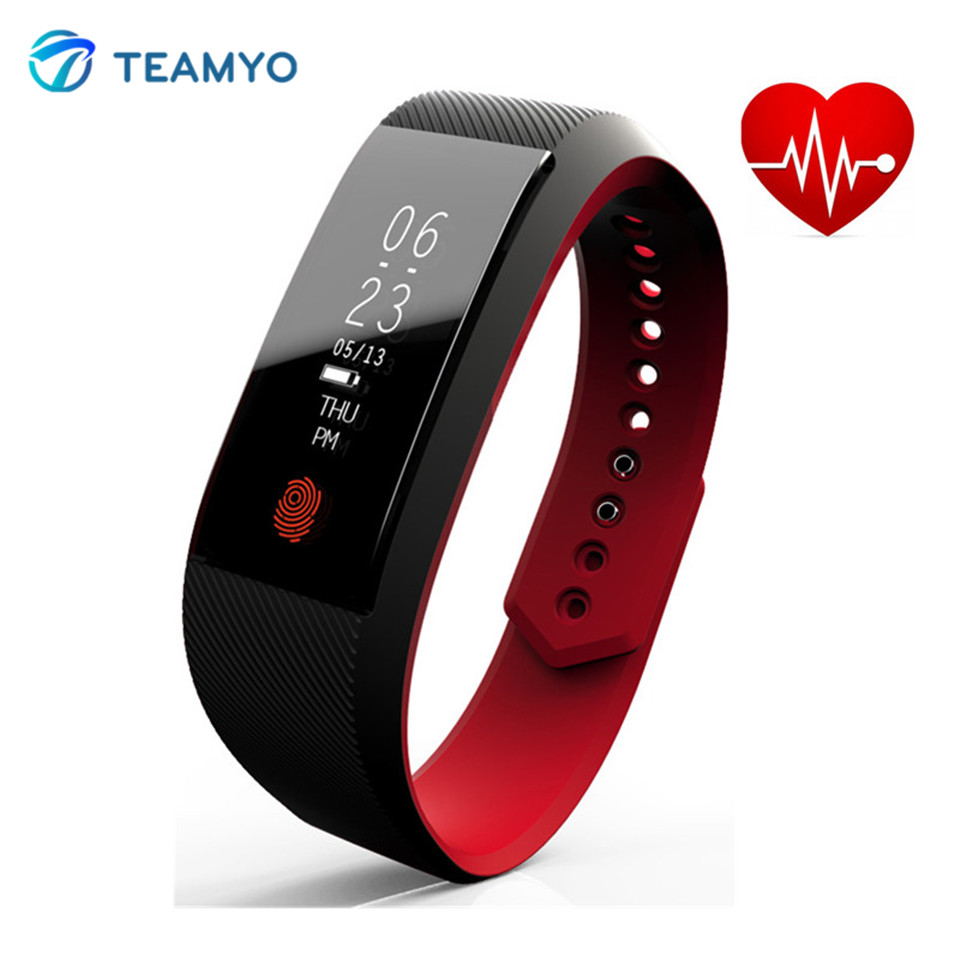Teamyo 0 91inch Smart Watch Pulse Heart Rate Monitor relogio cardiaco Smartband Fitness Tracker Smart Bracelet