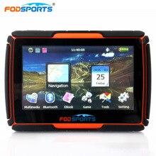 Fodsports 4.3 Inch motorcycle navigation bluetooth motorbike GPS navigator waterproof 256MB 8GB  IPX7 free install maps