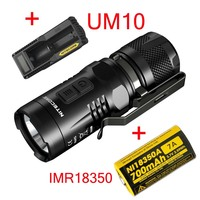 2015 Nitecore EC11 CREE XM L2 U2 LED 900 Lumen Waterproof Rescue Search Torch+UM10 Charger +IMR18350 700MAH Battery
