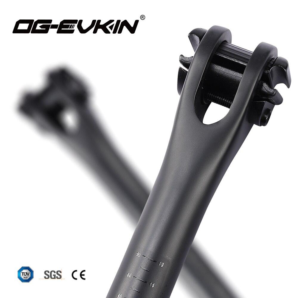 OG-EVKIN SP-008/SP-009 EPS Selim De Carbono MTB Ou Estrada Da Bicicleta Espigão 27.2/31.6mm Tubo Do Assento 400 MILÍMETROS peças de Bicicletas de Carbono Canote