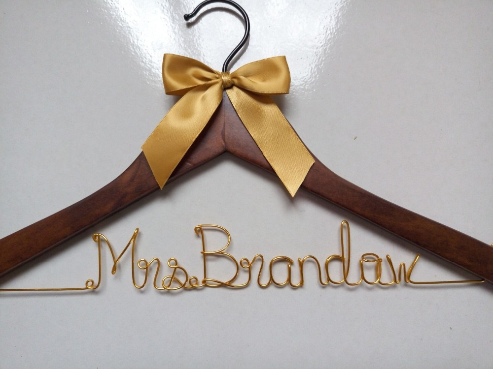 Personalised Wedding Gifts Express Delivery : Free Shipping Personalized custom wedding hanger, bride bridegroom ...