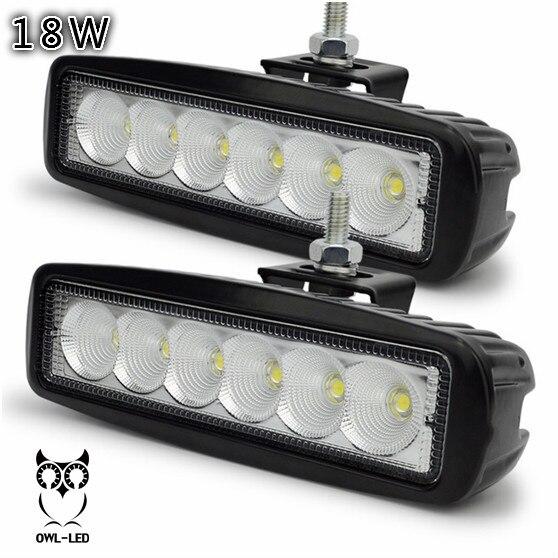 18 Вт LED Work Light Offroad Пятно Луча ATV Мотоцикл Авто 4WD 4X4 Грузовик Прицеп Передние Противотуманные Фары