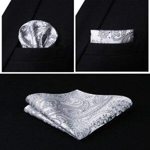 Image 5 - Mens Classic Paisley Jacquard Waistcoat Vest Handkerchief Party wedding Tie vest Suit  Pocket Square Set