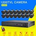 AHD CCTV System 16CH AHD 1080N CCTV DVR Kit HDMI 1080P SONY 1200TVL IR Cameras Security System 16 channel CCTV NVR 1TB HDD
