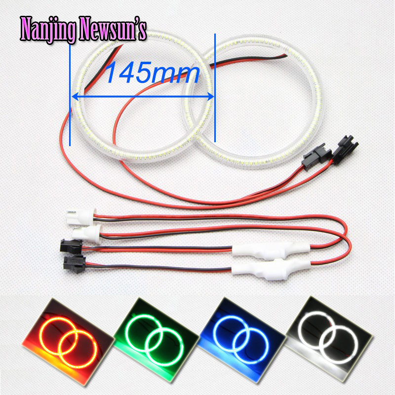 2x 145MM OD/ 129MM ID SMD Led Full Circle Ring Angel Eyes Kits For Car Motorcycle Car Styling Auto Accessories DRL Fog Lamp other voices full circle cd