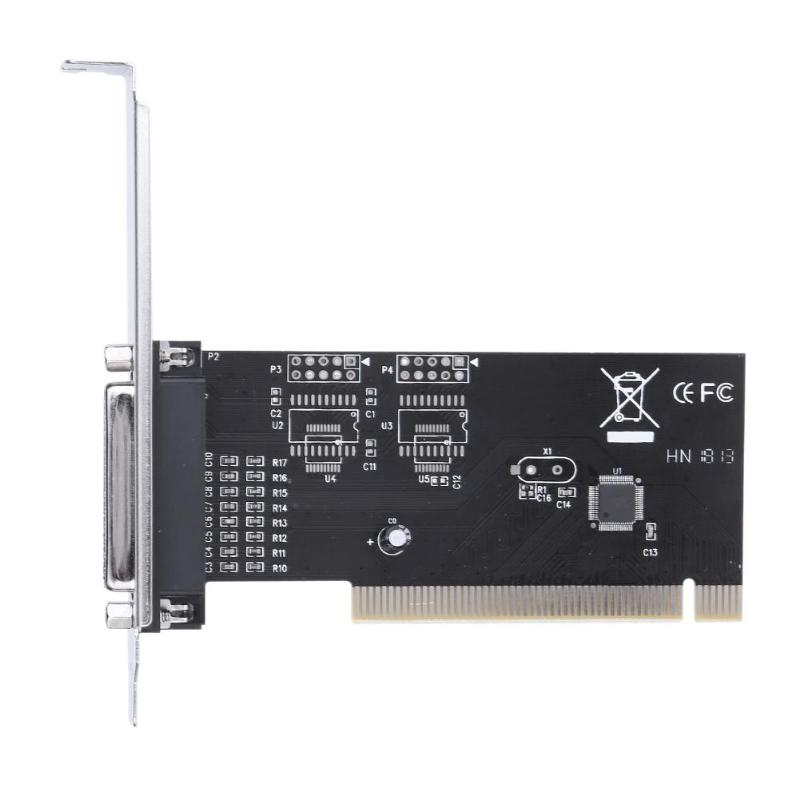 PCI351q Parallel Interface Expansion Card Adapter Built In SPP, PS2, EPP, ECP With CD Diver For Printer
