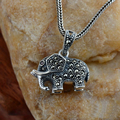 Real 925 Sterling Silver Jewelry Vintage Elephant Pendant Inlaid Retro Thai Silver Marcasite For Women Colgantes De Plata 925