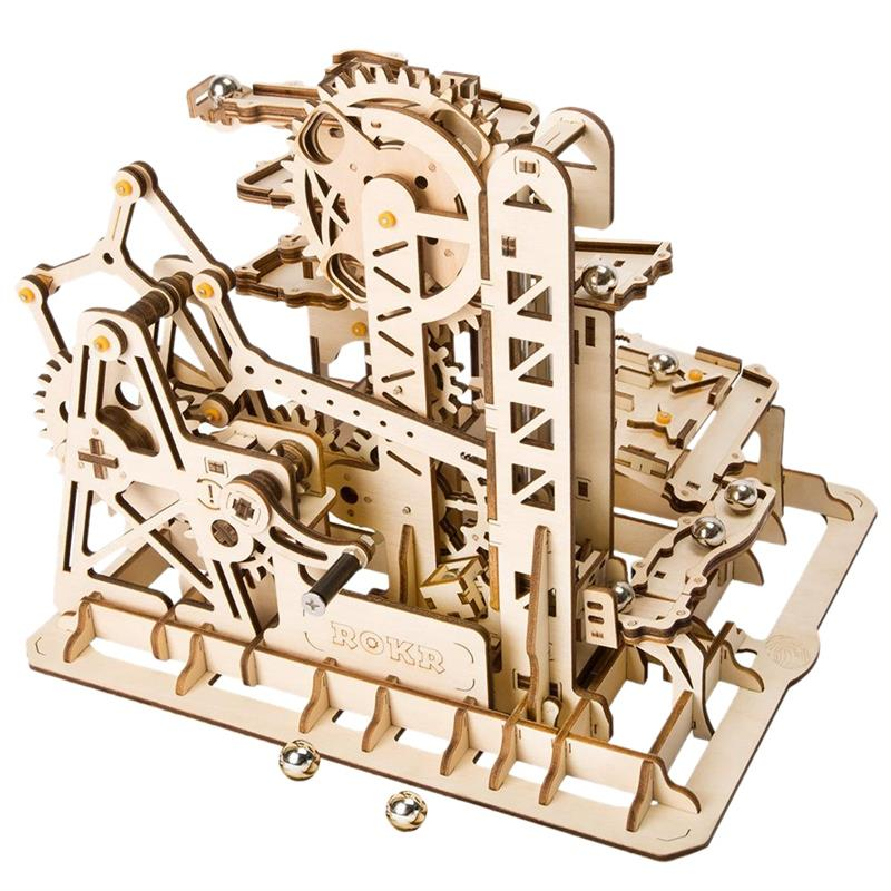 Robotime Marble Run Game Diy Tower Roller Coaster Wooden Model Building Kit Assembly Toy Gift Child Adult Lg504