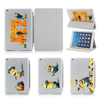 Minion In Despicable Me 2 Slim Thin Pu Leather Case For Apple Ipad Air 2 Case