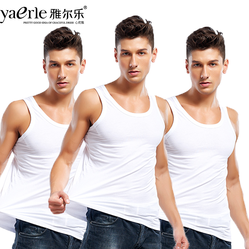 3pcs   Tank     Top   Mens 100% Cotton Soft Summer O-neck   Tank     Top   Male Bodybuilding Pack of 3 Casual Male Vest Black White Grey Tmall