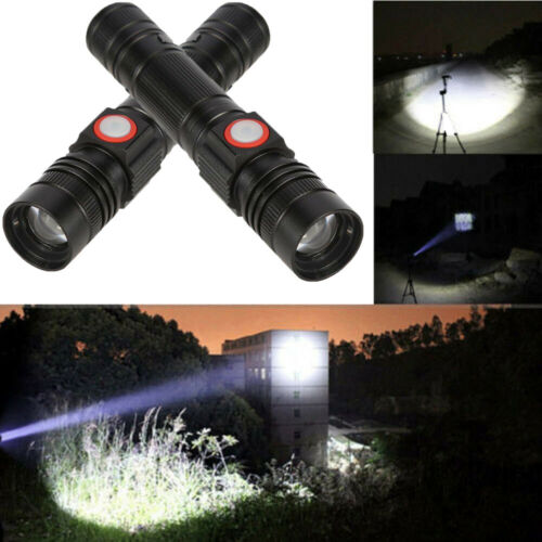 Bright 30000LM Flashlight Torch T6 LED 18650 Battery Zoomable Torch Lamp Light