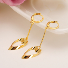 Gold lovely  Women's Drop Earring Dangle Earring Charms Jewelry heart Earrings brincos Vintage girls Christmas mother kids gift gold african dubai filled women s drop earring flower dangle earring charms jewelry earrings brincos vintage girls kids gift