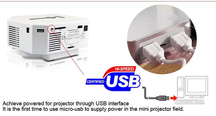 New Art 30 mini projector pic 14