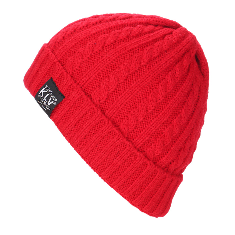 eaf90c77382 2017 Hot Sale Solid Stripe Women s Hat Female Winter Hats For Men Sport  Beanies Cap Knitted Boy Braid Gorros Warm Men s Caps-in Skullies   Beanies  from ...